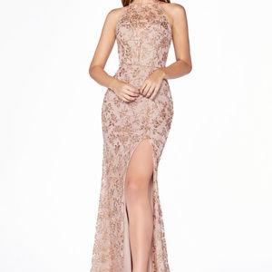 Halter Neckline Evening Long dress